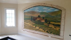 Tuscan Hand Painted Mural
