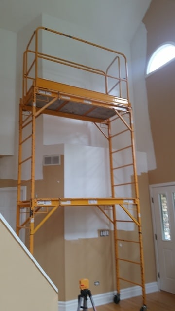 Wallpaper Installation Multi Story Foyer Dfranco Finishes
