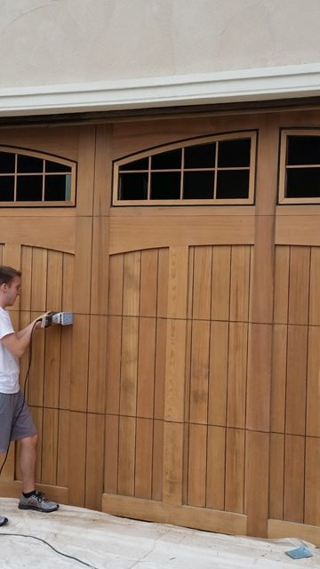 Need wood oors refinished we can help dfranco finishes for Garage door finishes