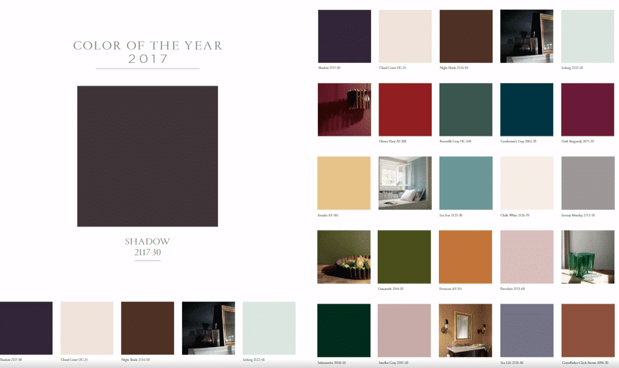 Benjamin Moore Reveals Its 2017 Color Of The Year Shadow