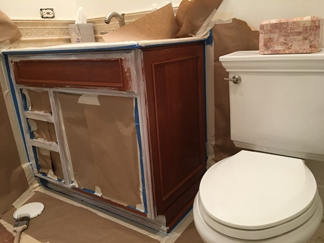 How To Paint A Vanity Cabinet   Repairing Cabinets