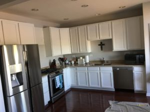 how to refinish cabinets - repairing cabinets - Painting cherry cabinets