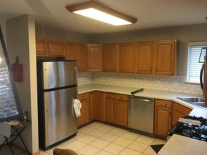 oak cabinets - how much does it cost to paint cabinets