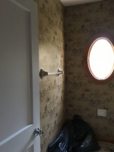 how to remove bathroom wallpaper
