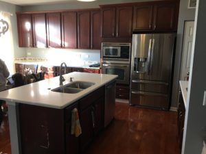 paint cherry cabinets