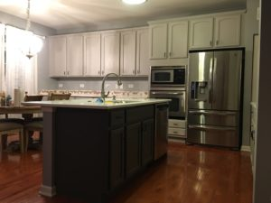 paint over cherry cabinets