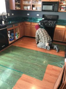 refinishing oak cabinets