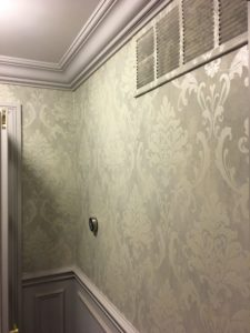 hvac vent wallpapered wall