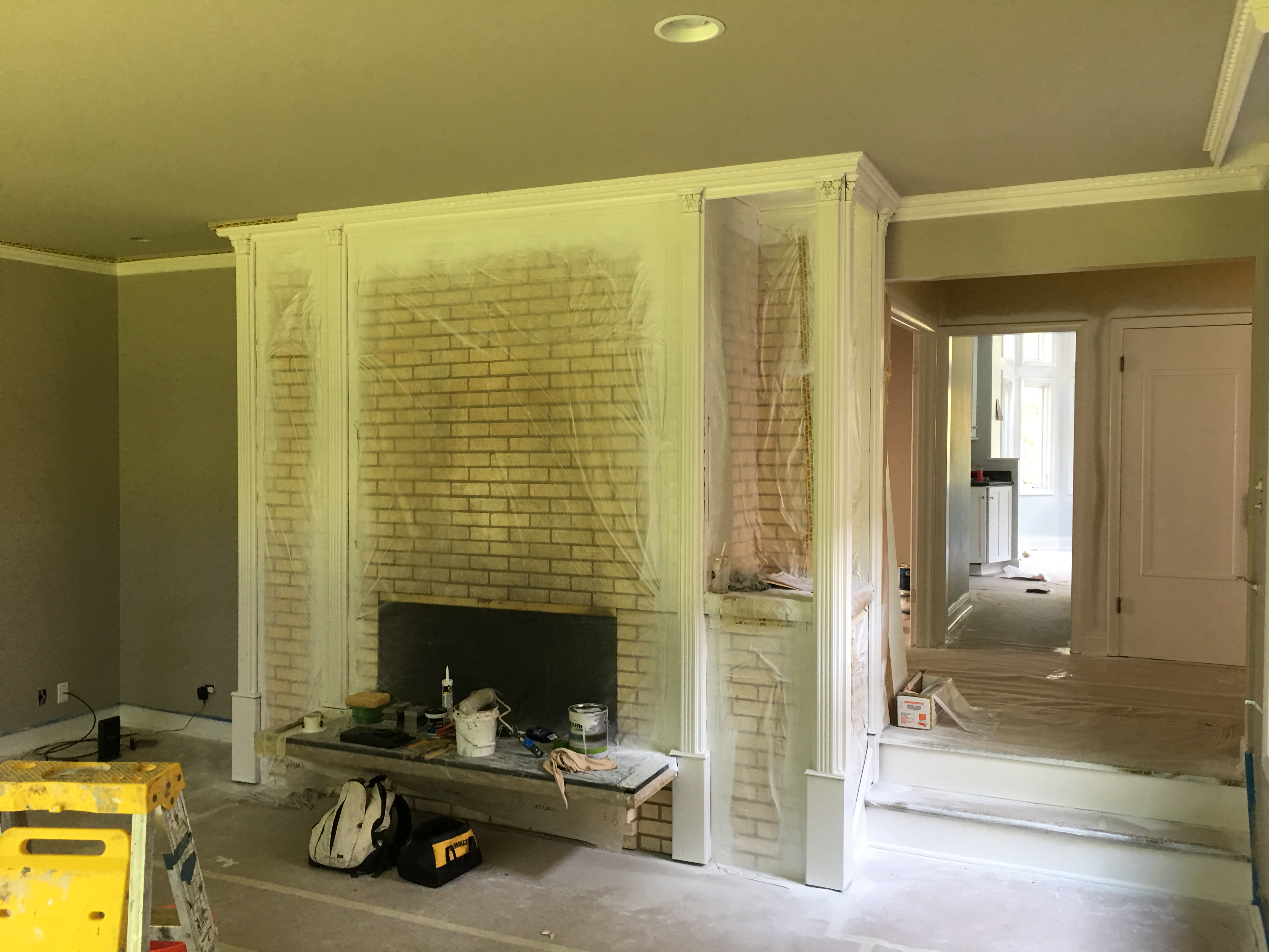 Paint or Whitewashing your fireplace