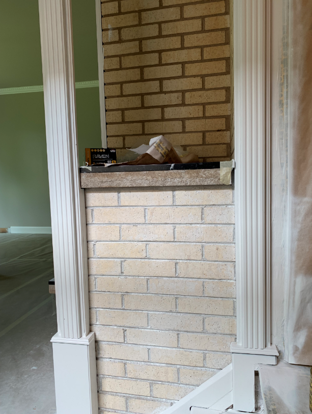 Paint Whitewash Fireplace