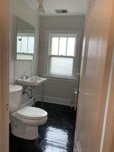 bathroom painted and repaired