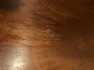 stain not sticking to wood