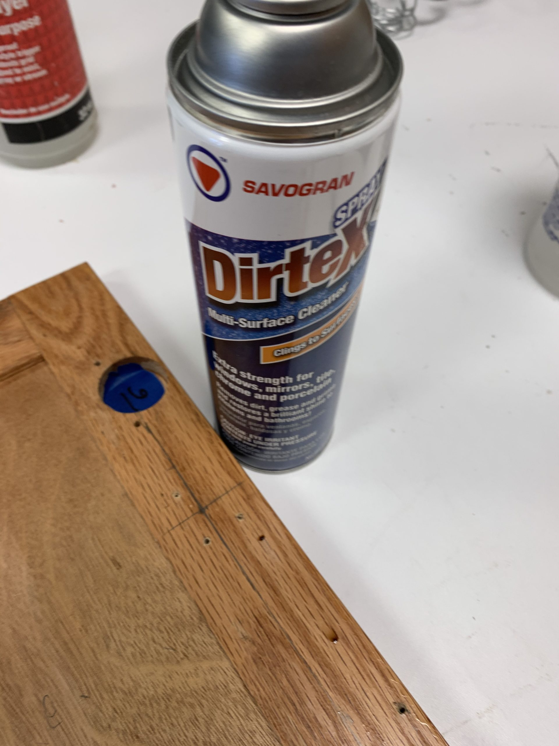 Dirtex cleaner - kitchen cabinet cleaning
