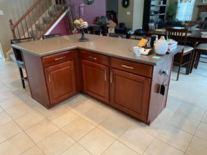 cherry cabinets before glaze - kitchen cabinet painting elgin il