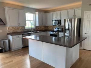 painting cabinets white - cabinet glazing