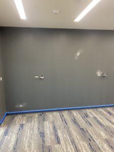 commercial wallpaper installation before