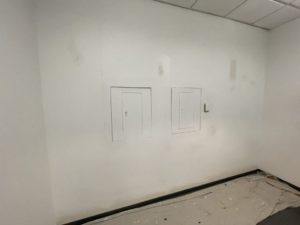 commercial wall with no wallpaper